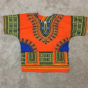 Other - Men's boho tribal orange festival shirt, sz S